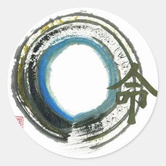 Destiny in Zen, Enso Classic Round Sticker