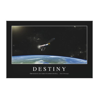 Destiny: Inspirational Quote 1 Canvas Print