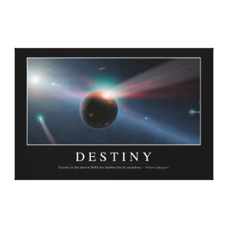 Destiny: Inspirational Quote 2 Canvas Print