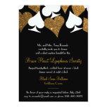 Destiny Las Vegas Casino Party Faux Gold Glitter 5x7 Paper Invitation Card