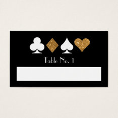 Destiny Las Vegas Fill-in Name Table Number Card at Zazzle