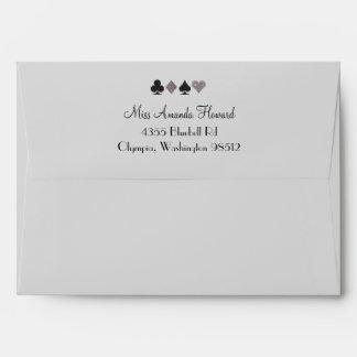 Destiny Las Vegas Glittered Platinum Envelope