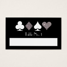 Destiny Las Vegas Silver Fill-in Name Table Card at Zazzle