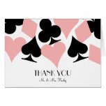 Destiny Las Vegas Thank You Card in White & Pink Note Card