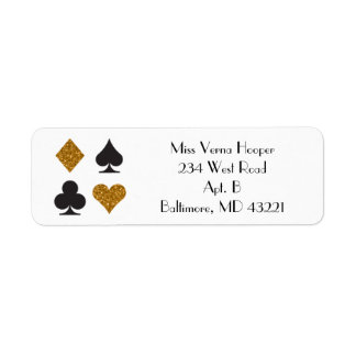 Destiny Las Vegas Wedding Faux Gold Glitter Label