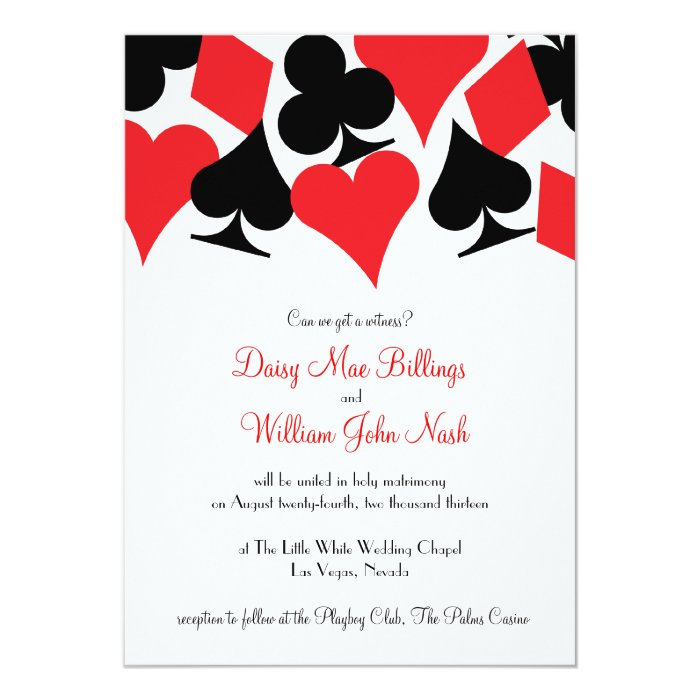 Destiny las vegas wedding invitation zazzle for Wedding invitations las vegas nv