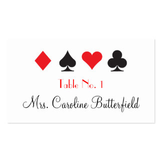 Destiny Las Vegas Wedding Personalized Table Card Business Card Template