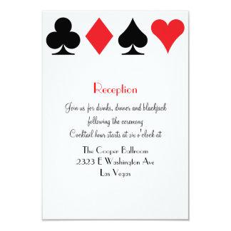 "Destiny Las Vegas Wedding Reception Extra Info 3.5"" X 5"" Invitation Card"