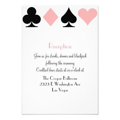 Destiny Las Vegas Wedding Reception Extra Info Invites
