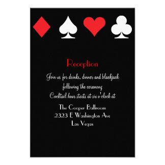 Destiny Las Vegas Wedding Reception Extra Info Invite