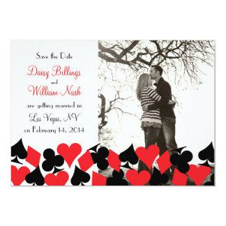 Destiny Las Vegas Wedding Save the Date Card