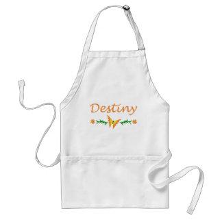 Destiny Orange Butterfly Aprons