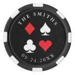 Destiny Personalized Wedding Favor Gift Black Red Poker Chips Set