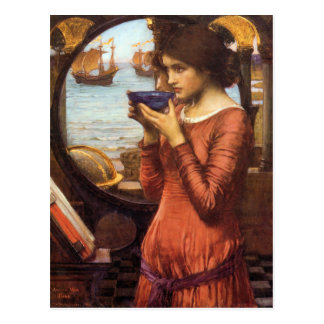 Destiny Pre-Raphaelite Postcard By J W  Waterhouse