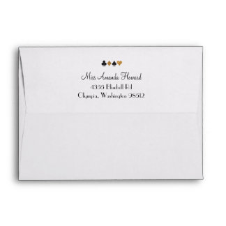 Destiny Vegas Wedding Faux Gold Glitter Envelope