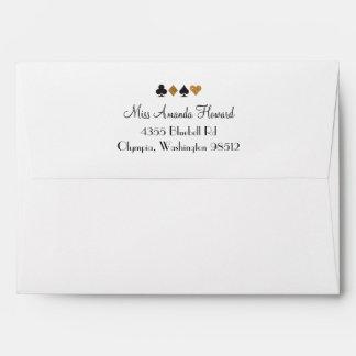 Destiny Vegas Wedding Party Faux Gold Glitter Envelope
