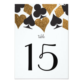 Destiny Vegas Wedding Reception Gold Table Number