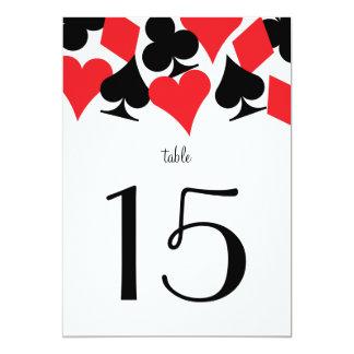 Destiny Vegas Wedding Reception Red Table Number
