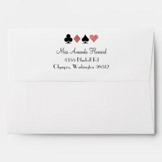 Destiny Vegas Wedding Rose Gold Glitter Envelope
