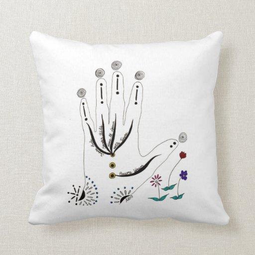 Destiny's Hand Mandala Pillows
