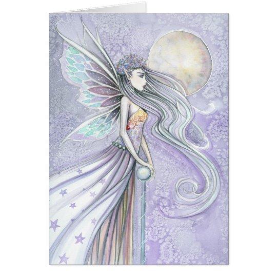 Destiny's Moon Beutiful Fairy Blank Card