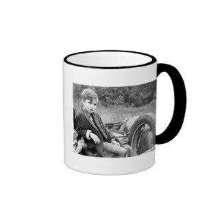 Destitute Boy, 1935 Ringer Coffee Mug