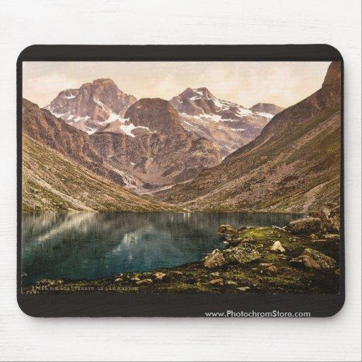 d'Estom del lago, Cauterets, vintage de los Pirine Alfombrillas De Ratón