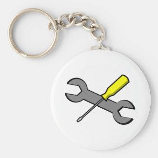 Destornillador y llave llavero personalizado