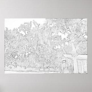 Destrahan Plantation Store Print