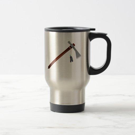Destral indio de la hacha de guerra taza de café
