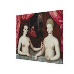 d'Estrees de Gabrielle y su hermana Lienzo Envuelto Para Galerias
