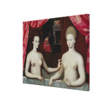 d'Estrees de Gabrielle y su hermana Lienzo Envuelto Para Galerías