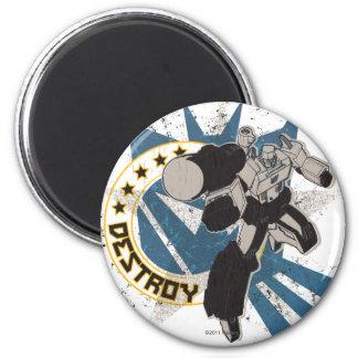 Destroy 2 Inch Round Magnet