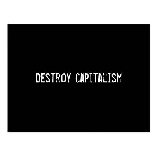 destroy capitalism postcards