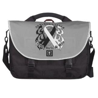 Destroy Carcinoid Cancer Laptop Messenger Bag