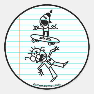 Destroy Classic Round Sticker