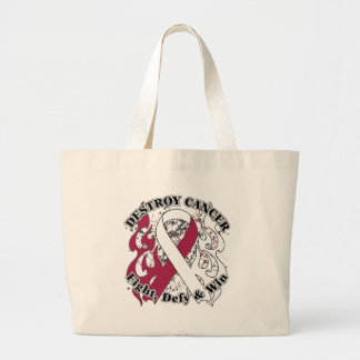 Destroy Head and Neck Cancer Jumbo Tote Bag