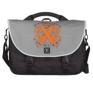Destroy Leukemia Cancer Laptop Messenger Bag