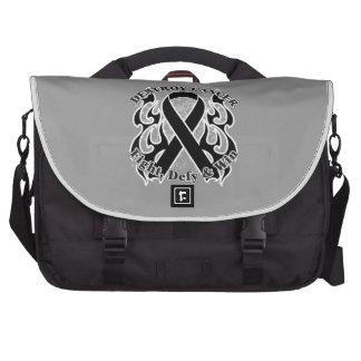 Destroy Melanoma Cancer Laptop Bags