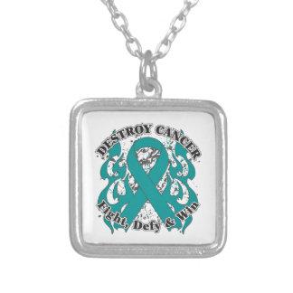 Destroy Ovarian Cancer Necklaces
