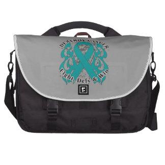 Destroy Peritoneal Cancer Laptop Messenger Bag