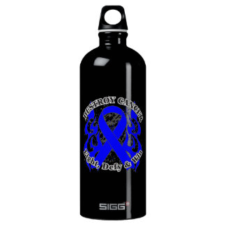 Destroy Rectal Cancer Aluminum Water Bottle