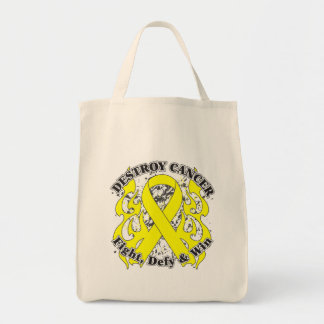 Destroy Sarcoma Cancer Grocery Tote Bag