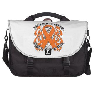 Destroy Skin Cancer - Fight Defy Win Laptop Messenger Bag