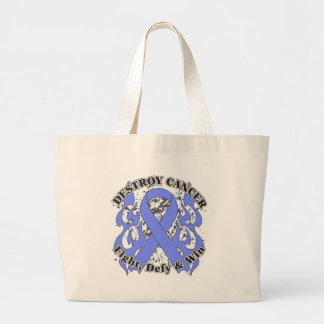 Destroy Stomach Cancer Jumbo Tote Bag