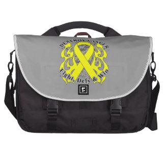 Destroy Testicular Cancer Laptop Commuter Bag
