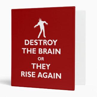 Destroy the Brain 3 Ring Binder