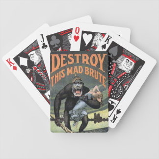 Destroy This Mad Brute Bicycle Playing Cards