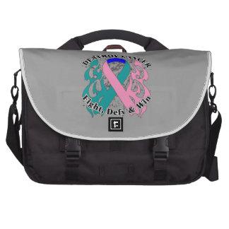 Destroy Thyroid Cancer Laptop Messenger Bag