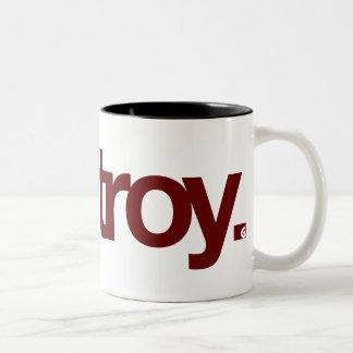 Destroy Two-Tone Coffee Mug